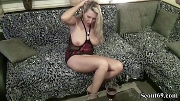 dirty german tracy Flash penis touch